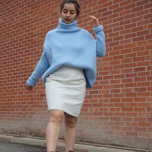 Sweaters - Blue turtle neck sweater